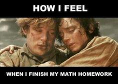 How I Feel When I Finish My Math Homework.