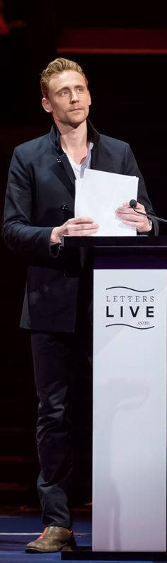 Tom Hiddleston at Letters Live on April 4, 2015. Full size photo: http://i.imgbox.com/Audb87z1.jpg. Source: Torrilla http://torrilla.tumblr.com/post/116100026590/tom-hiddleston-at-letters-live-on-april-4-2015. Doesn't he just look spectacular!?