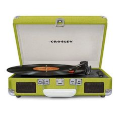 Crosley Cruiser Deluxe Turntables Color: Green