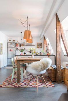Bohemian style kitchen bench