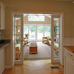 Love The French Doors Opening Into The 4 Season Room