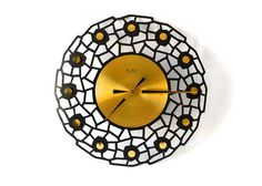 Vintage clock brass GDR East German wall clock starburst sunburst Weimar electronics Mid-Century 60s on Etsy, $115.52 AUD