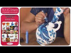 Seramik Boyama Teknikleri 2 - Sülünlü İbrik - YouTube Street Vendor, Painting Videos, Wooden Art, Traditional Art, Art For Kids, Decoupage, Diy And Crafts, Turkey, Porcelain