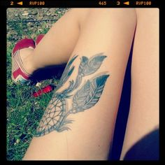 dreamcatcher tattoo | Tumblr - love the placement. Considering this for mine