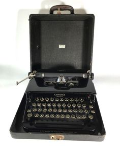 Corona Standart Antique Typewriter w/Case in Georgeous Condition #Corona