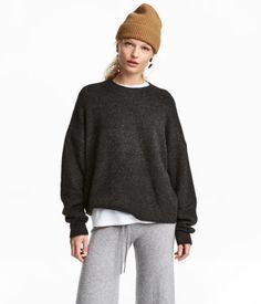 Fine-knit Sweater | Dark gray melange | WOMEN | H&M US