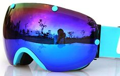 COPOZZ GOG-203 Ski Goggles Anti-fog Snowboard Snowmobile Goggles with Interchangeable Spherical Dual Lens Men Women Youth - 100% UV Protection Snow Goggles Clear