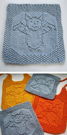 Click the image to view more about Bat Crochet Dishcloth Pattern! Crochet Bat, Crochet Quilt, Knitted Washcloths, Knit Dishcloth, Halloween Knitting Patterns, Knitting Projects, Knitting For Kids, Baby Knitting, Free Knitting