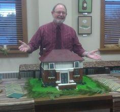 November 2013: I spoke at the centennial celebration of the opening of the first library in Detroit Lakes, Minnesota. For the celebration, they commissioned a cake constructed as a perfect replica of that original library.