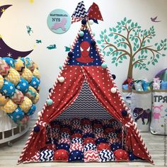 Diy Teepee, Kids Teepee Tent, Teepees, Birthday Decorations, Baby Shower Decorations, Sewing Pillows Decorative, Kids Bedroom Accessories, Big Boy Bedrooms, Baby Swings