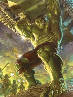 alex ross stan lee Dc Comics - Geek World Hulk Marvel, Marvel Comics, Hulk Comic, Bd Comics, Marvel Art, Marvel Heroes, Captain Marvel, Comic Art, Ms Marvel