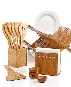Martha Stewart Collection Bamboo Kitchen Essentials - Kitchen Gadgets - Kitchen - Macy's