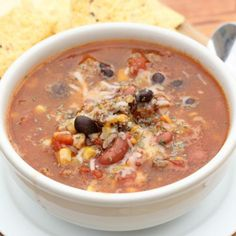Crock pot Taco Chili - Eating on a Dime