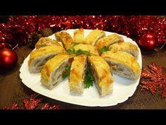 Новогодний мясной рулет с грибами и сыром - Простые рецепты Овкусе.ру