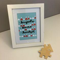 Muistitaulu valokuvakehyksestä.  lasten | askartelu | joulu | käsityöt | koti | DIY ideas | kid crafts | christmas | home | decor | Pikku Kakkonen