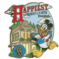 disney donald happiest place pin
