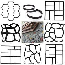 Garden Paving Pavement Concrete Stepping Driveway Stone Mold Patio Maker Mould If you plan to use th Stepping Stone Pavers, Paving Stone Patio, Garden Pavers, Garden Stepping Stones, Concrete Stone, Stone Path, Paving Stones, Concrete Patio, Garden Landscaping