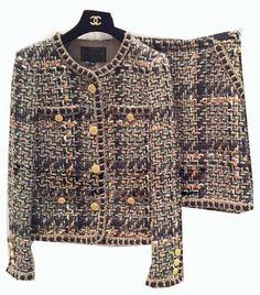 Pas cher Femmes incroyable veste, élégant tweed veste et jupe ensemble, femmes 2…