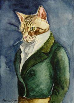 Watercolor Pet Portrait Costume or Theme by BeaumontStudio on Etsy, $75.00 - AMAZING!!!