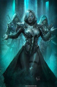 Ice mage, fantasy character inspiration Concept Art by Ardian Sedhayu Fantasy Girl, Fantasy Warrior, Dark Fantasy Art, Fantasy Women, Fantasy Artwork, Fantasy Witch, Character Inspiration, Character Art, Dark Elf