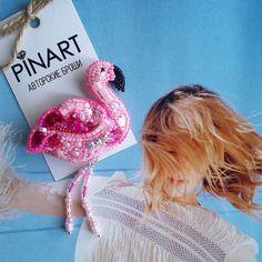 Желаю всем отличной рабочей недели!  Если нравится эта розовая птичка, не пожалейте ❤  #брошьфламинго #спб #ручнаяработа
