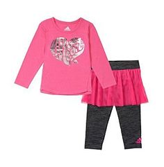 adidas® Baby Girls' Heart Flirt Set