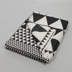 Niki Jones Isosceles Throw Black & White | Made in Scotland | Quilts & Throws | niki-jones.co.uk