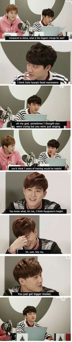 lol  fake subs #EXO #Kyungsoo #Suho (credits go to the creator)