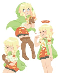 """fuwapeach: """" i wasn't even planning on buying this game until linkle showed up linkle is everything """""""