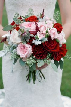 Romantic reds, cool succulents, blushing bride pinks, all the pictures of this will be amazing