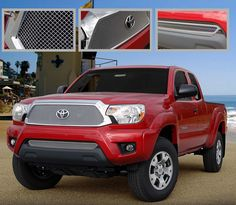 2012-13 Toyota Tacoma Stainless Steel 2PC Fine Mesh Style Grille. Call for part number: 1138-0102-12