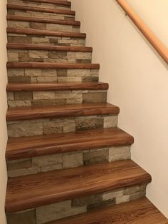 Cap a Tread and airstone stairs. No more carpet! Took about 2 days to complete.