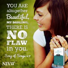 Each of us is uniquely beautiful to our Savior. Song of Songs 4:7 (NIV)