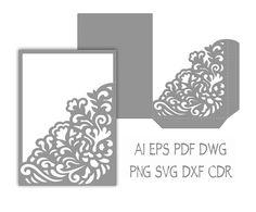 Wedding Invitation Pocket Envelope 5x7 SVG от NarisariDigitalArt