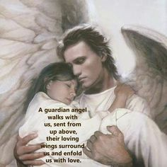 We have all been given a Guardian Angel at the Moment of our Birth that stays besides us until We meet them in Heaven! Thank You JESUS for My Guardian Angel 👼🏼 Angels Among Us, Angels And Demons, Male Angels, Angels And Fairies, Tattoo Guardian Angel, Guardian Angels, Male Angel Tattoo, Urbane Kunst, I Believe In Angels