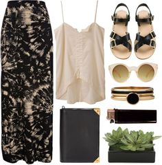 """golden dust"" by rosiee22 ❤ liked on Polyvore"