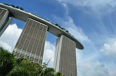 Marina Bay Sands from Gardens by the bay Singapore   #travel