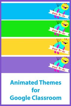 An animated theme (4 gif files included) to add some fun to your Google Classroom. Online Classroom, Classroom Decor, Phonics Cards, Gif Files, Free Education, Google Classroom, Educational Technology, Headers, Some Fun