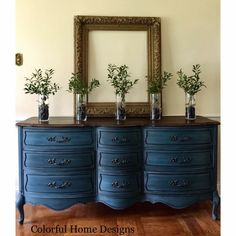 Chalk paint Ideas refinishing furniture diy dresser dark wax Things To Consider When Purchasing Blue Painted Furniture, Refurbished Furniture, Paint Furniture, Repurposed Furniture, Furniture Projects, Furniture Makeover, Cool Furniture, Dresser Furniture, Bedroom Furniture