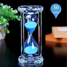 Hourglass Sand Timer MerryNine Hourglass Timer 30 Minutes with Gift Box Hourglass Decor for Home Kitchen Office Dcor Christmas Gift Crystal Timer 30 minutes -- Check this awesome product by going to the link at the image.Note:It is affiliate link to Amazon. #HomeOfficeFitting