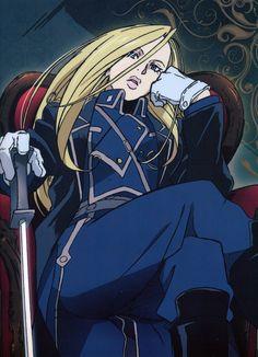 """Major General Olivier Armstrong, """"Fullmetal Alchemist"""" #sword #uniform"""