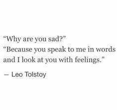 Nothing more than feelings