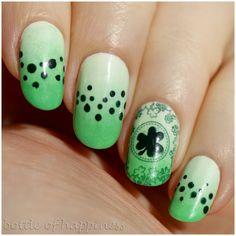 bottle of happiness St. Patrick's Day #nail #nails #nailart