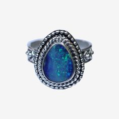 ✤ NATURAL OPAL BOHO RING ✤ This stunning natural Opal ring is going to be slightly different with the shape and colour of each stone, as natural Opal is valuable each stone includes as much of the per