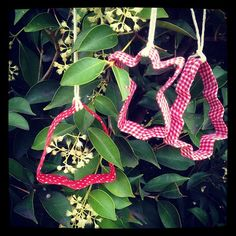 Washi tape and fabric tape ornaments