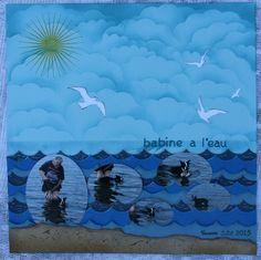 Hélène (Suila) création; Une page a propos de mon chien a la mer! hihi