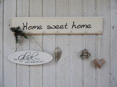 """Spruchschild Hakenleiste """"Home"""", Shabby Chic Look von lamemo  auf DaWanda.com"""