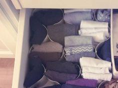 Ordnung in der Socken-Schublade.