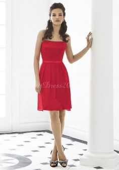 Short, A-line, Strapless #Red #bridesmaid #dress ♡ For how to organise an entire wedding ... on a budget https://itunes.apple.com/us/app/the-gold-wedding-planner/id498112599?ls=1=8 ♥ THE GOLD WEDDING PLANNER iPhone App ♥  http://pinterest.com/groomsandbrides/boards/ for an abundance of wedding ideas ♡