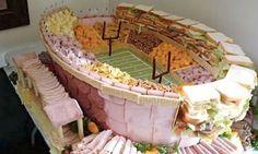 Presentando la comida con forma de estadio.